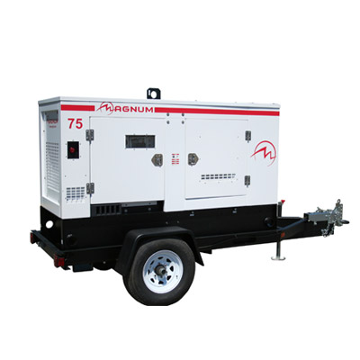 Trolley Mounted Mobile Generator / Gensets With Acoustic Enclosure, USA